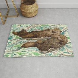 Sea Otters Rug