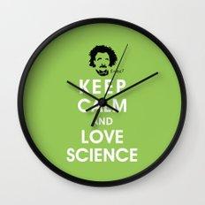 Keep Calm and Love Science Wall Clock