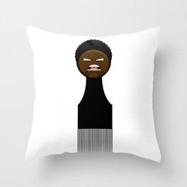 Stay Angry, Stay Fresh Throw Pillow