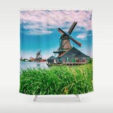 amazing windmills  Shower Curtain