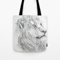 leon Tote Bags featuring Leon by Amy Lawlor Creations