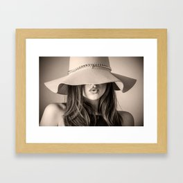 Beautiful Woman Framed Art Print