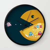 games Wall Clocks featuring Indoor Games by KingImagine