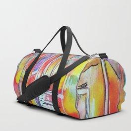 Orange Neon Houses Duffle Bag