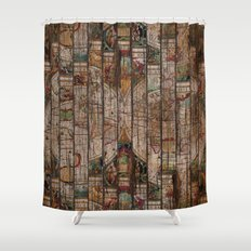 Encrypted Map Shower Curtain