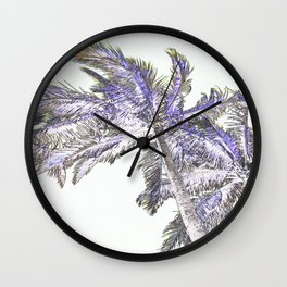 Palm abstract Wall Clock