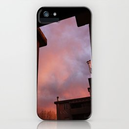 Pink Sunset - Spot the Face iPhone Case