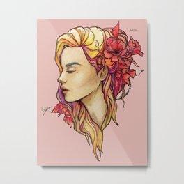 Lana Pink Metal Print