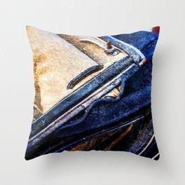 Vintage Car - Velvet Luxury Throw Pillow