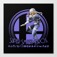 super smash bros Canvas Prints featuring Sheik - Super Smash Bros. by Donkey Inferno