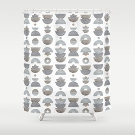 semicircle pattern Shower Curtain