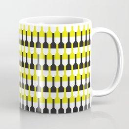 Geometric Pattern 253 (yellow and black bottles) Coffee Mug