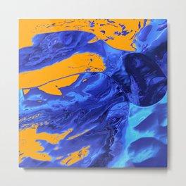 Splashy Diving Metal Print