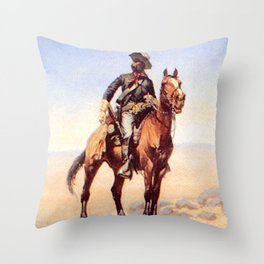 "Frederic Remington Western Art ""Buffalo Soldier"" Throw Pillow"