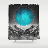 not all who wander Shower Curtains featuring Not All Those Who Wander by soaring anchor designs