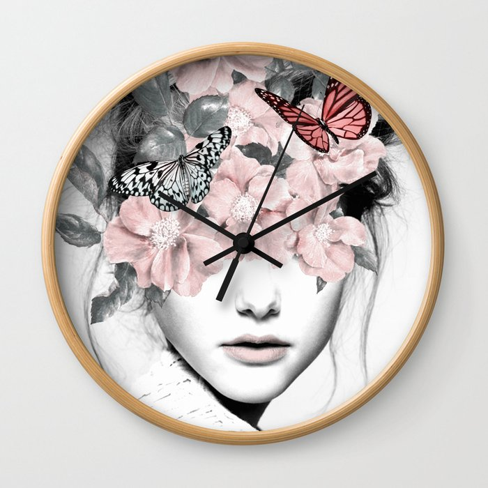 WOMAN WITH FLOWERS 10 Wall Clock
