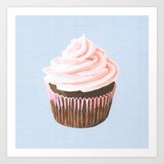 Pink Cupcake Art Print