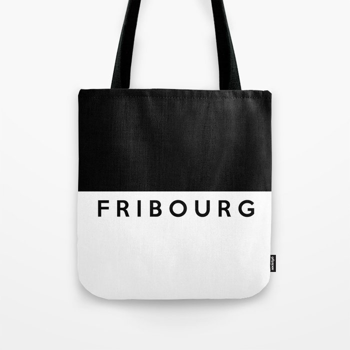 Fribourg Region Switzerland Country Flag Name Text Swiss Tote Bag By Tony4urban