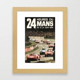 Le Mans poster, 1964, 24hs Le Mans, original vintage poster Framed Art Print