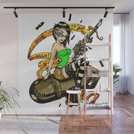 Lil Miss Atom Bomb Wall Mural