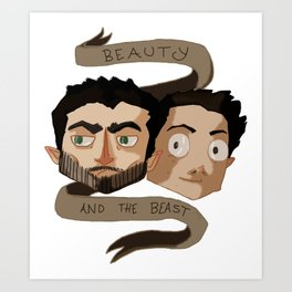 The Beauty and the Beast [Sterek] Art Print