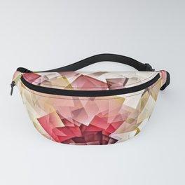 Geometric Stacks Pink Beige Fanny Pack