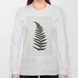 Minimal Fern Leaf Long Sleeve T-shirt
