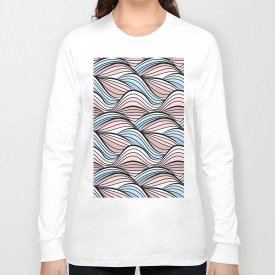 Thread pink blue Long Sleeve T-shirt