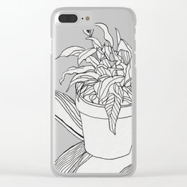Drawing Peace Lily Clear iPhone Case