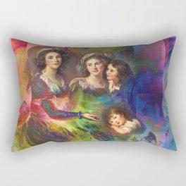 Rainbow Silks Rectangular Pillow