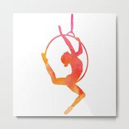Lyra/Hoop Aerial Artist Metal Print