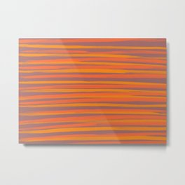 Orange & yellow stripes Metal Print