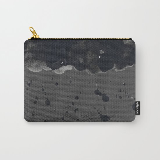 Stormy Black Clouds Version 2 For Earth Day Carry-All Pouch