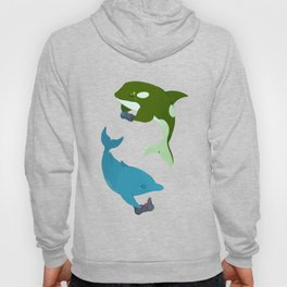 Blue Dolphin and Orca Hoody