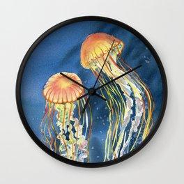 Dancing of Jellyfish Wall Clock