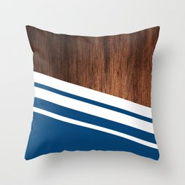 Wood of blue Throw Pillow