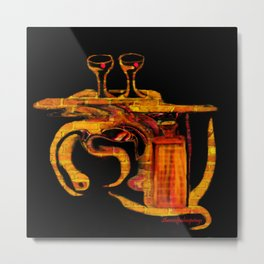 Cocktails For Two Metal Print