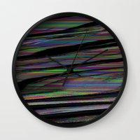 glitch Wall Clocks featuring Glitch by DDANIELL