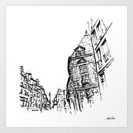 Urban Inkscape 5 Paris Art Print
