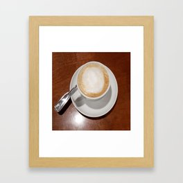 Rise and Shine Cafe con Leche Coffee! Framed Art Print