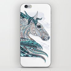 Blue Grey Ethnic Horse iPhone Skin