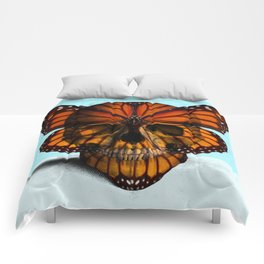 SKULL (MONARCH BUTTERFLY) Comforters