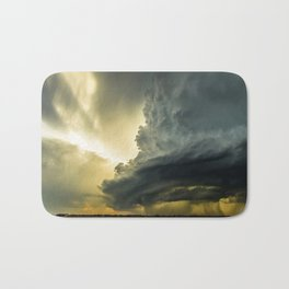 Supercell - Massive Storm Over the Great Plains Bath Mat