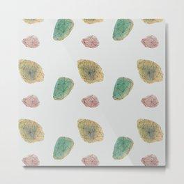 ROCKS (grey textile) Metal Print