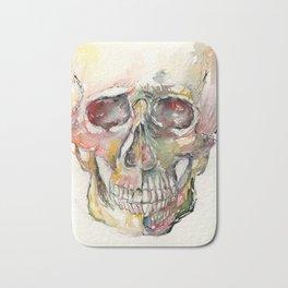 Human Skull Painting Bath Mat