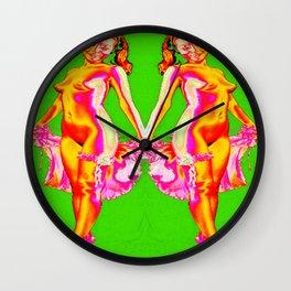 twins/female nudes Wall Clock