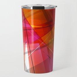 Transparent Shapes Warm Colorful Geometric Abstract Art Travel Mug