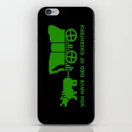 Oregon Trail Died of Dysentery retro gaming iPhone Skin
