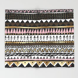 Boho Geometric Stripe Throw Blanket