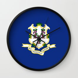 flag Connecticut,america,us,new England,constitution,Connecticuter,Yale,Nutmegger,Hartford Wall Clock